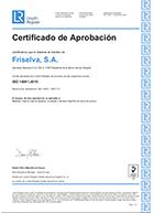 calidad Friselva certificado iso14001